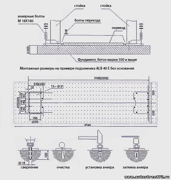 Схема подъемника для автосервиса своими руками
